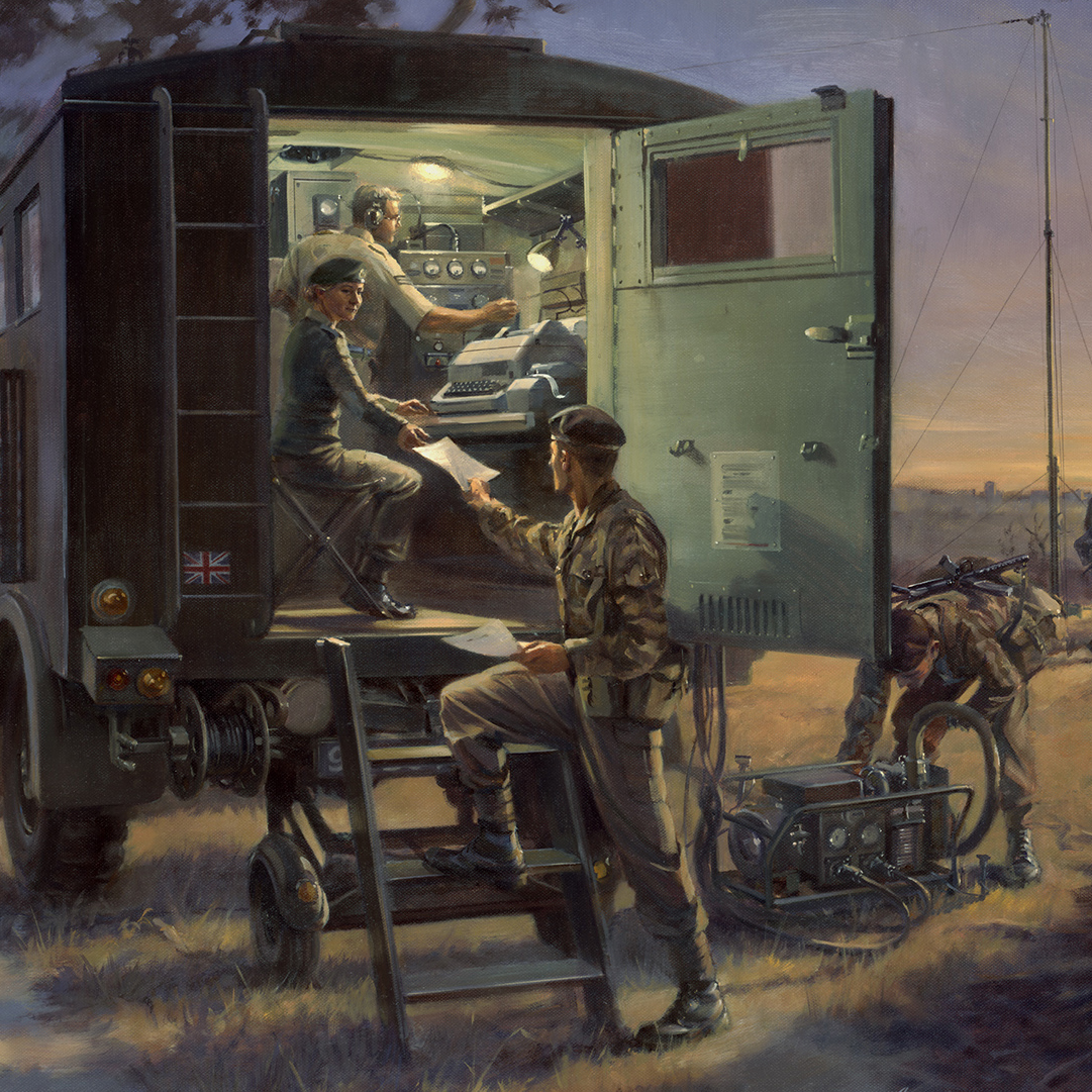 In And Working Military Artist Stuart Brown