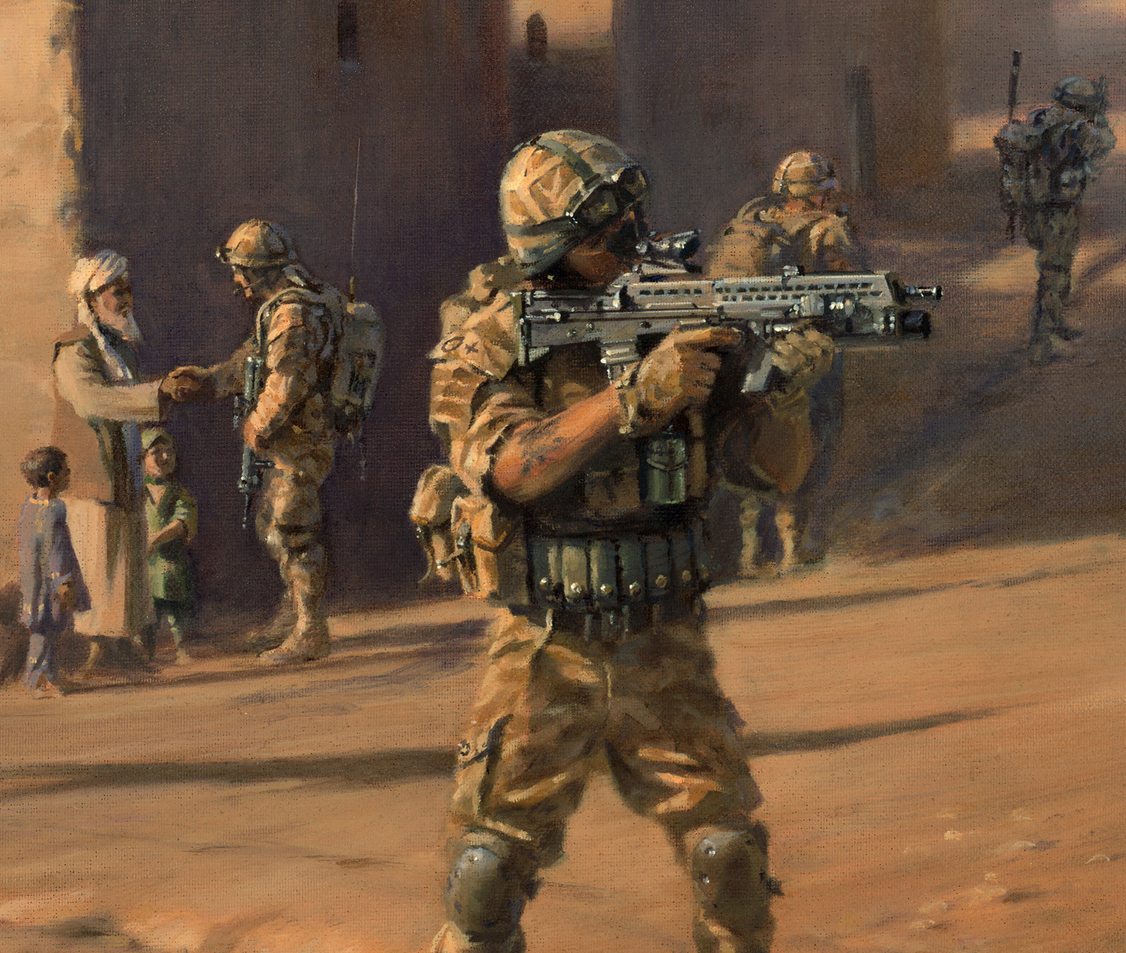 45 commando group - operation herrick' - military artist stuart brown
