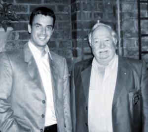 Col Joe Kittinger and the Artist Stuart Brown