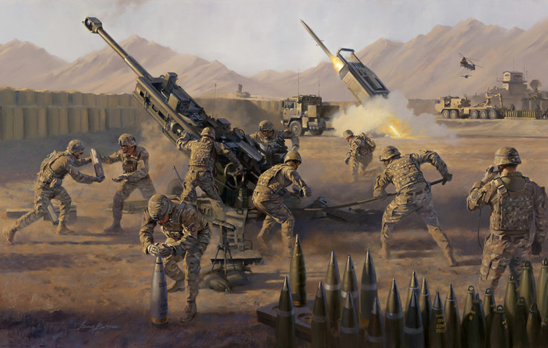 All American Fires 18th-Fires-Brigade, Afghanistan by Stuart Brown