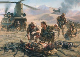'Battle Mist' special Forces medic by Stuart Brown