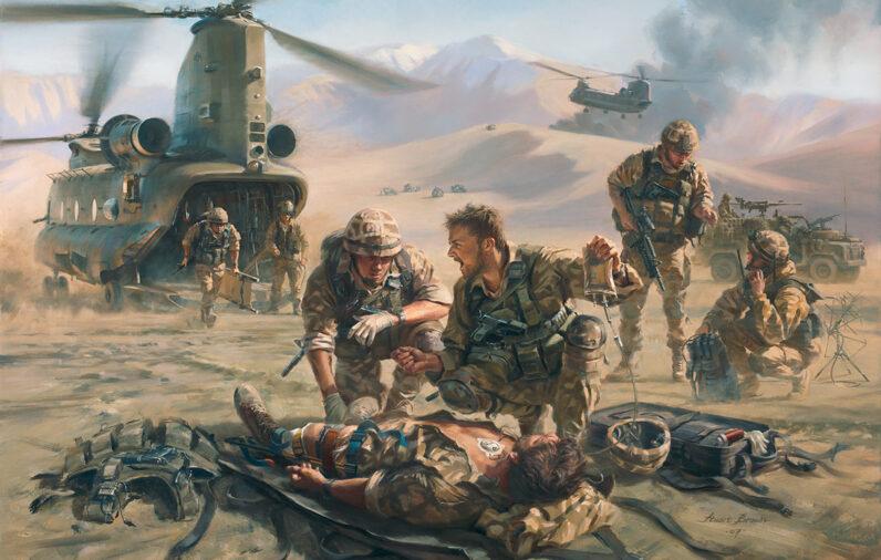 'Battle Mist' special Forces medic by Stuart Brown