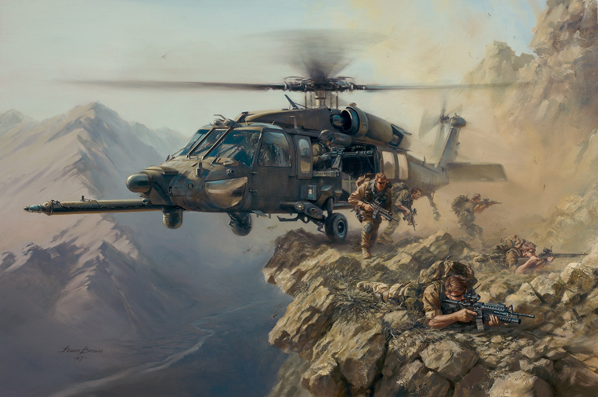 'BLACK HAWK SPECIAL DELIVERY' - Military Artist Stuart Brown