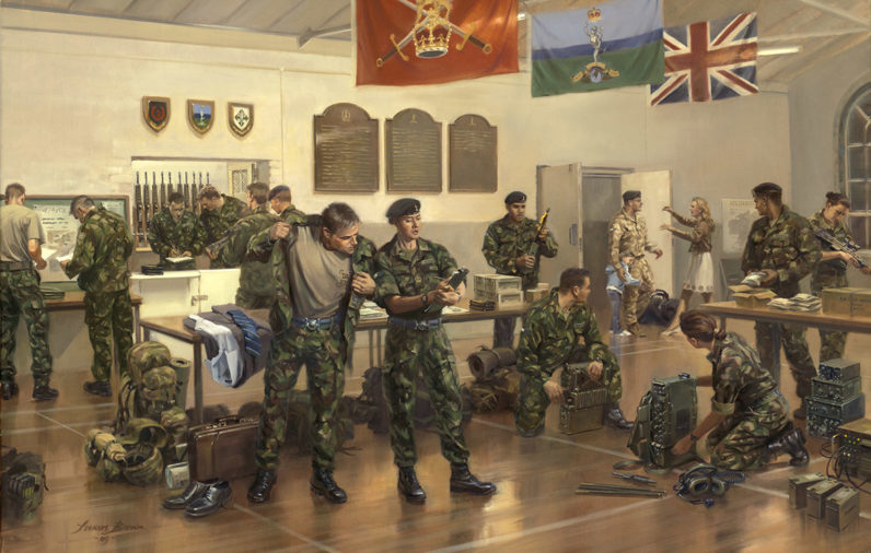 A typical Friday night scene at a TA centre during 2008.