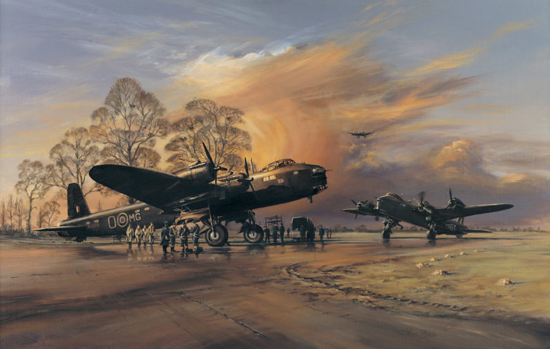 Short Stirlings returned from a bombing mission