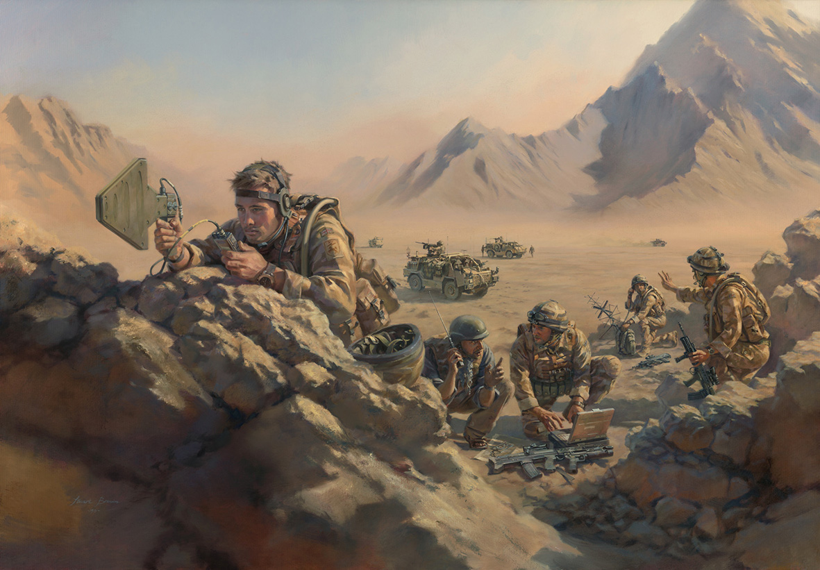 'Task-task-task' Royal Corps Signals by Stuart Brown