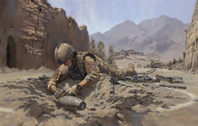 Towards the Bomb. Explosive Ordnance Disposal (EOD) Team by Stuart Brown