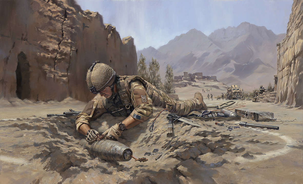 Towards the Bomb. Explosive Ordnance Disposal (EOD) Team by Stuart Brown