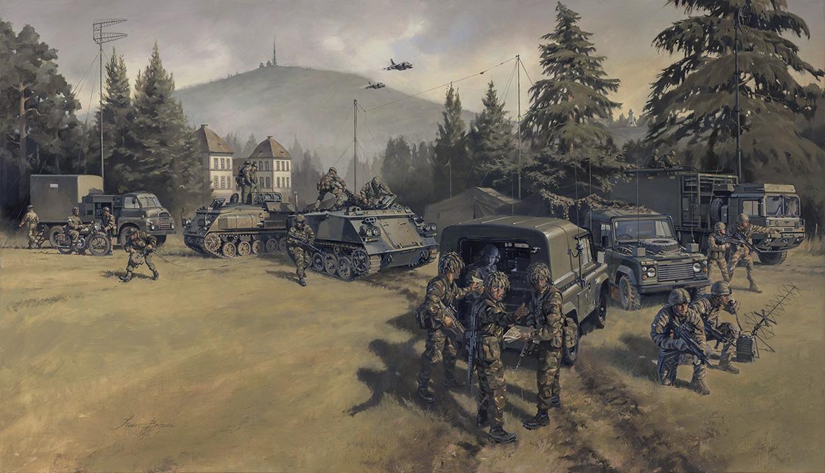 Zeitgeist spirit of the times military artist stuart brown